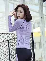 Femme Manches longues Yoga Vêtements de Compression/Sous maillot 3/4 Collants