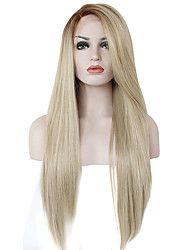 Ombre Color Synthetic Lace Front Wigs Straight Hair Heat Resistant Fiber Hair Wig for Woman