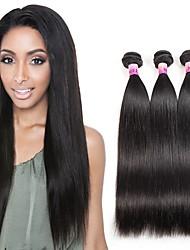 300g Remy Brazilian Virgin Hair Straight 3 Bundles Straight Virgin Weave Bundles Top 8A Unprocessed Virgin Human Hair