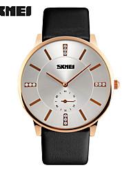 Women's Men's SKMEI Leather Sport Quartz Hours Casual Watch For Men Waterproof Relogio Masculino Clock Luxury Brand Business Wristwatches