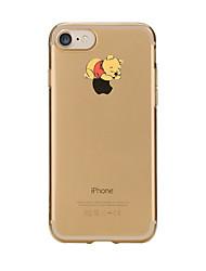 Pour iPhone X iPhone 8 Etuis coque Transparente Motif Coque Arrière Coque Jeux Avec Logo Apple Bande dessinée Flexible PUT pour Apple