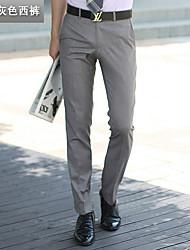 Homme simple Taille Basse Micro-élastique Costume / Tailleur Pantalon,Mince