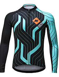 Mysenlan Cycling Jersey Men's Long Sleeve Bike Jersey Quick Dry Polyester Classic Fashion Spring Summer Fall/Autumn