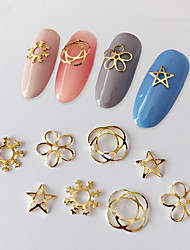 10PCS Alloy Sheet Copper UV Nail Decorate Nail Art Decoration