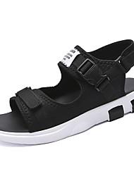Для мужчин Сандалии Удобная обувь Полиуретан Лето Осень Повседневные Удобная обувь Черный Синий Цвет экрана На плоской подошве