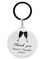 Plastique Porte-clée pour Invitée-12 Pièce / Set Porte-clés Thème classique Personnalisé Blanc Noir
