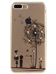 For iPhone 7 7 Plus 6 6S Plus 5 5S SE Case Cover Dandelion Pattern HD Painted Drill TPU Material IMD Process High Penetration Phone Case