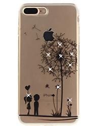 Pour iphone 7 7 plus 6 6s plus 5 5s se case cover motif de pissenlit hd percé foret tpu matériel imd process haute pénétration téléphone