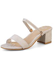 Damen Sandalen Pumps PU Sommer Kleid Pumps Schnürsenkel Blockabsatz Schwarz Beige Gelb 5 - 7 cm