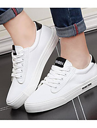 Men's Sneakers Canvas Spring Black Black/White Red/White Flat
