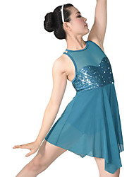MiDee Ballet Dresses Children's Performance Spandex / Polyester / Organza / Sequined Paillettes / Flower(s) / Lyrical Costume Dress