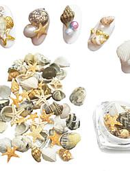 15pcs Natural Starfish Scallops Conch Nail Art Decoration