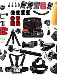 QQT for Gopro accessories Set Head support Strap Helm Harness Brustgurt mini stick Einbeinstativ Stativ Go pro Hero 5 4 3  2 xiaomi yi