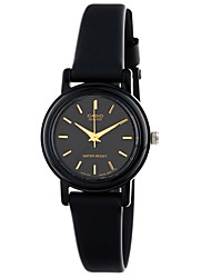 CASIO Women's Sport Watch Fashion Watch Wrist watch Japanese Quartz Water Resistant / Water Proof Rubber Band Charm Cool Casual Black