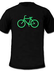 Camiseta com LED 100% Algodão 2 Baterias AAA