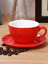 Fancy Cowtail Coffee Cup Set with Matte Professional Competition European Latte Cup Multicolor