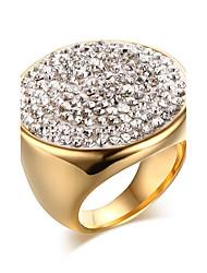Women's Ring  Love Classic Elegant Cubic Zirconia Titanium Steel Ring Jewelry For Wedding Anniversary Party/Evening