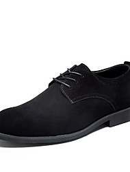 Men's Sneakers Comfort Suede Spring Casual Comfort Brown Black Flat