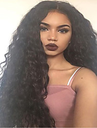 New Big Curly Lace Front Human Hair Wigs with Baby Hair Glueless Lace Front Wigs Brazilian Virgin Hair Wigs for Black Woman
