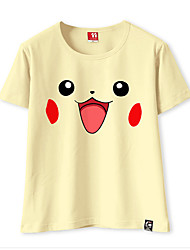 Inspiré par Pocket Little Monster PIKA PIKA Vidéo Jeu Costumes de Cosplay Cosplay T-shirt Couleur unie Tee-shirt