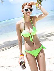 Women's Bikini Bamboo Fiber Solid