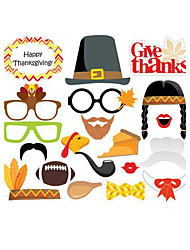20pcs Thanksgiving Party Photo Booth Props Photobooth Party Decoration