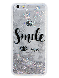 Case for Apple iPhone7 7 Plus Cartoon Glitter Shine Word Phrase Flowing Liquid Pattern Soft TPU  6s Plus  6 Plus 6s 6