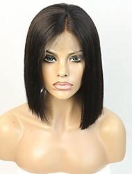 Cabelo virgem brasileiro short cut bob wig plucked cabelo parte definida perfeitamente laço frente peruca