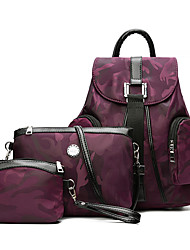 Women Backpack PU All Seasons Formal Sports Casual Camping & Hiking Office & Career Shopping Bucket Zipper Amethyst Ruby Black Green