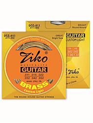ZIKO DCZ011 Acoustic Guitar Strings  Wound Steel 6 Strings