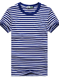 Parenting New Arrival Boy's Girl's Casual Cotton T-shirt Long Sleeve Stripes Tee Cotton Blend Summer Short Sleeve