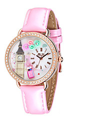 Mulheres Relógio de Moda Quartzo Couro Banda Rosa Roxa