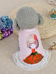 Chien Robe Vêtements pour Chien Décontracté / Quotidien Mode Princesse Bleu Rose