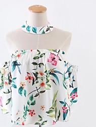 T-shirt Da donna Per uscire Moda cittàFantasia floreale All'americana Altro Mezze maniche