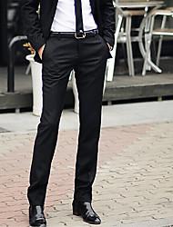 Для мужчин просто Неэластичный Skinny Бизнес Брюки,Со стандартной талией Тонкие Чистый цвет