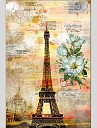 Oil Paintings Architecture Style Canvas Material With Wooden Stretcher Ready To Hang Size60*90CM .