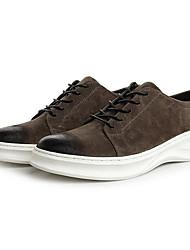 Da uomo Sneakers Scamosciato Primavera Nero Grigio scuro Marrone scuro Piatto