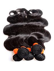 5bundles 500g venta al por mayor de la porción 8a estilo malayo de la onda del cuerpo humano del pelo estilo negro natural del color