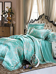 Yuxin®Tencel Modal 4-Piece Wedding Bedding  Satin Jacquard Kit  Bedding Set
