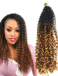 Freetress curly crochet hair water/curly wave 18inch synthetic twist crochet braids Kanekalon Hair Braids 6packs for a  full head