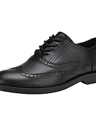 Men's Oxfords Formal Shoes Leather Spring Summer Wedding Office & Career Party & Evening Formal Shoes Lace-up Flat Heel Brown BlackUnder