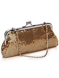 Women Evening Bag Polyester All Seasons Wedding Event/Party Formal Party & Evening Club Minaudiere Sequined Kiss Lock Ruby Black Gold