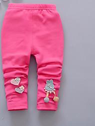 Girls' Bowknot Cartoon Solid Pants All Seasons
