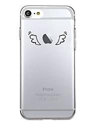 Für iPhone X iPhone 8 Hüllen Cover Muster Rückseitenabdeckung Hülle Spaß mit dem Apple Logo Cartoon Design Weich TPU für Apple iPhone X