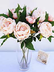 3 Head peony flowers Artificial Bouquet for Home Decor and Wedding Decorations