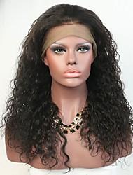 Ilusão cabelo natural cabelo profundo cabelo humano laço peruca dianteira para mulheres negras com cabelo de bebê