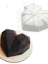 выпечке Mold Сердце Для торта Для шоколада силиконовый 3D Антипригарное покрытие Свадьба Праздник День Святого Валентина