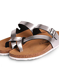 Women's Sandals Comfort PU Spring Casual Comfort Silver Gold Flat