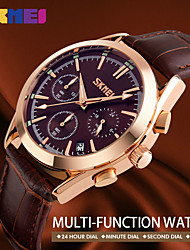 Women's Men's Fashion Casual Watch Leather Strap Complete Calendar Man Watches Auto Date Luxury Male Clock Quartz Wristwatches