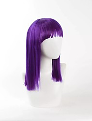 New Dark Purple Cosplay Wig Straight High Temperature Heat Resistant Popular Style